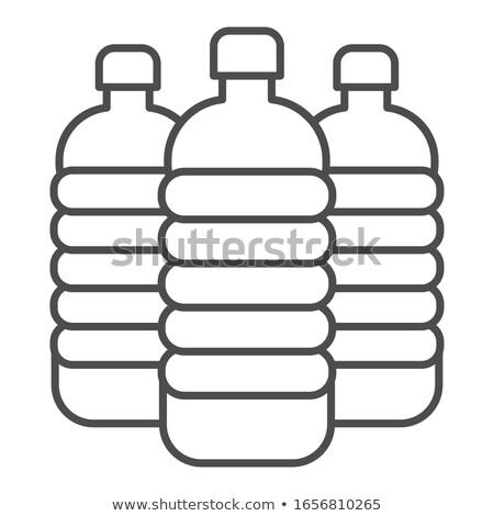Stok fotoğraf: üç · beyaz · plastik · depolamak · konteyner · ayakta