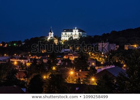 Foto stock: Eslováquia · pequeno · igreja · capela · três · cruzes