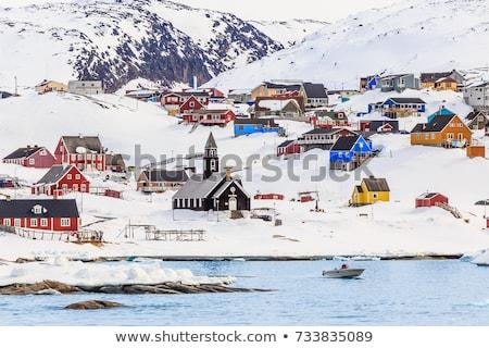 ártico paisagem em torno de ilha água nuvens Foto stock © Arrxxx