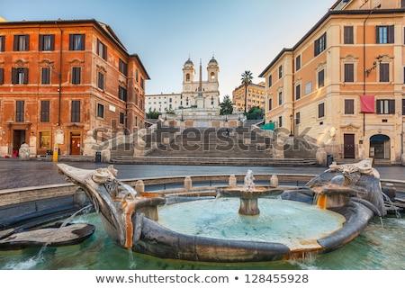 Spanish Steps and church of Trinita dei Monti in Rome Italy Stock photo © Dserra1