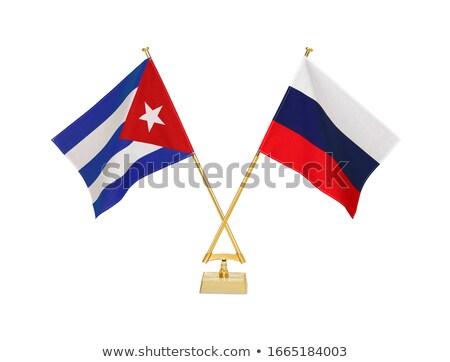 Russia and Cuba - Miniature Flags. Stock photo © tashatuvango