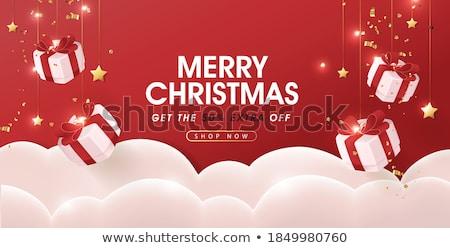 Karácsony eladó kettő lányok bevásárlótáskák tél Stock fotó © Vg