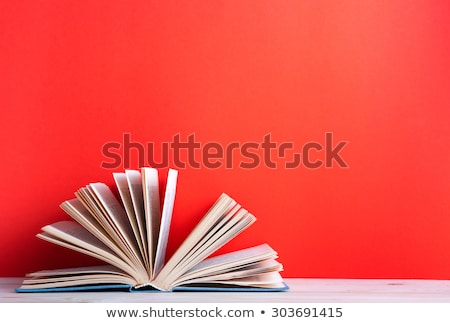 Open book with text and red bookmark Stock photo © orensila