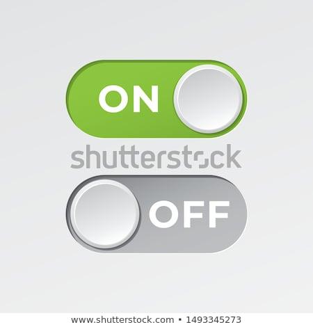 plastica · potere · pulsanti · bianco · simbolo · verde - foto d'archivio © koufax73