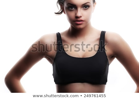 Sexy woman body, white background, isolated Stock photo © Nobilior
