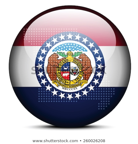 Map with Dot Pattern on flag button of USA Missouri State Stock photo © Istanbul2009