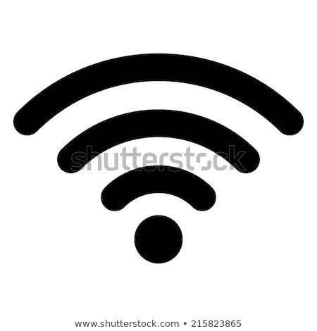 wifi · drótnélküli · konnektivitás · ikon · vektor · kép - stock fotó © Dxinerz