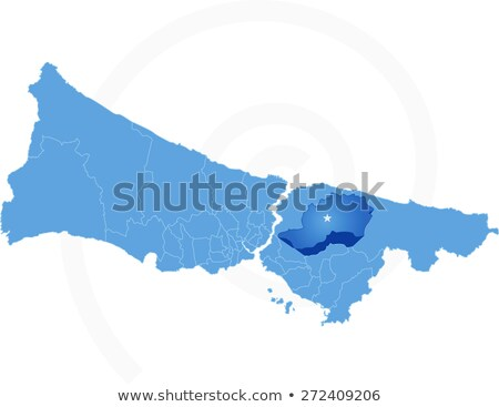 Istanbul Map with administrative districts where Cekmekoy is pul Stock photo © Istanbul2009