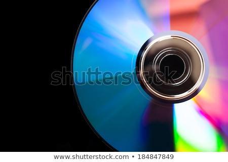 Donkere compact disc cd icon symbool geïsoleerd Stockfoto © Valeo5