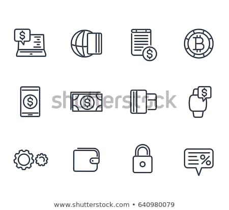 Pago tarjeta inteligentes icono dinero teléfono Foto stock © tkacchuk