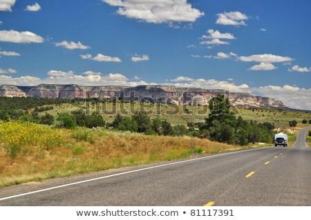 Straße Arizona USA Auto LKW Winter Stock foto © phbcz