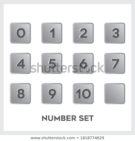 Numbers Counting Square Vector Black Button Icon Design Set Stock photo © rizwanali3d