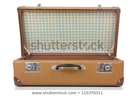 vintage leather retro luggage suitcase open stock photo © stevanovicigor