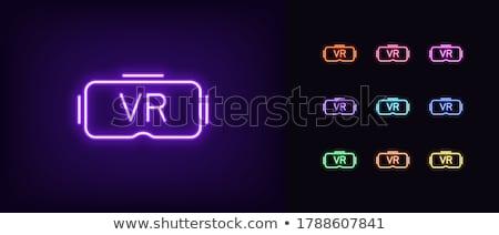 Espectáculo violeta vector icono diseno gafas Foto stock © rizwanali3d
