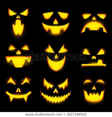 Stock foto: Vampire Mouth Vampire Teeth Vector Labels Set