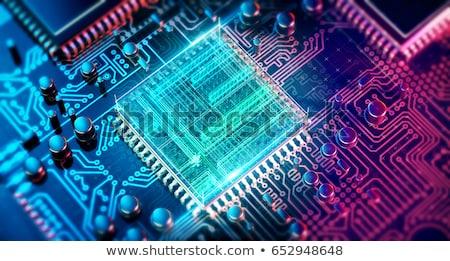 Processzor számítógép hardver izolált fehér kitűnő Stock fotó © netkov1