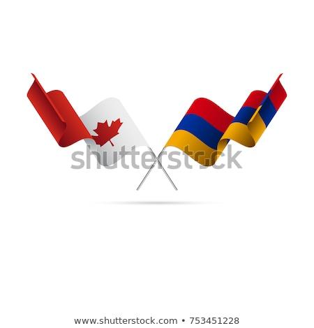 Канада Армения флагами головоломки изолированный белый Сток-фото © Istanbul2009