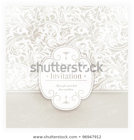 Vintage Invitation Card With Elegant Grunge Abstract Floral Desi Zdjęcia stock © wenani