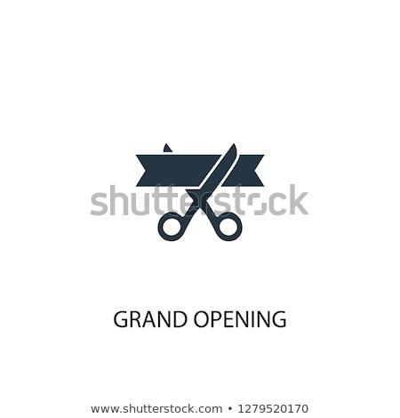 Abierto icono resumen signo Servicio tienda Foto stock © kiddaikiddee