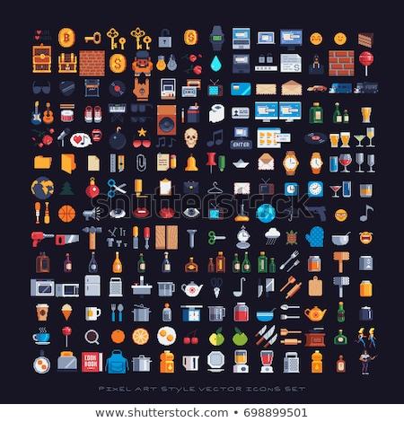 Pixel arte logo illustrazione disegni Foto d'archivio © Morphart