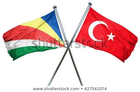 Турция Сейшельские острова флагами головоломки изолированный белый Сток-фото © Istanbul2009