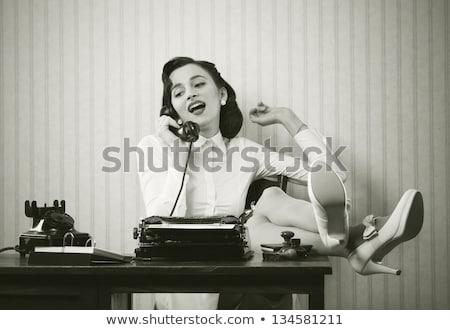 ретро · драмы · женщину · иронический · иллюстрация · классический - Сток-фото © clipartmascots
