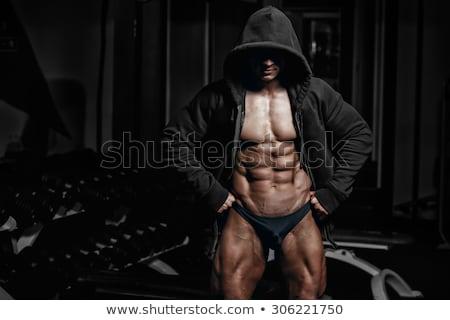 kulturysta · powrót · mięśni · nude · zdrowia · sportowe - zdjęcia stock © Paha_L