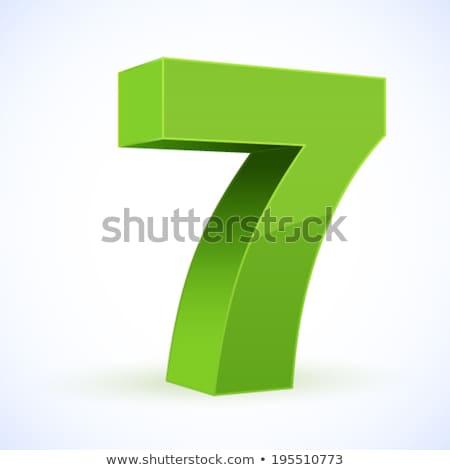 Número vector verde diseno web Foto stock © rizwanali3d