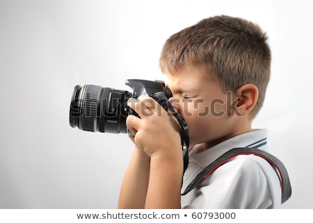boy with camera profile Stock photo © Paha_L