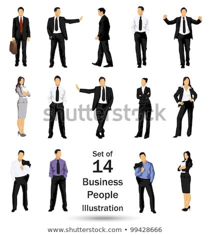 Kobieta interesu sylwetka jpg wersja działalności biznesmen Zdjęcia stock © Paha_L