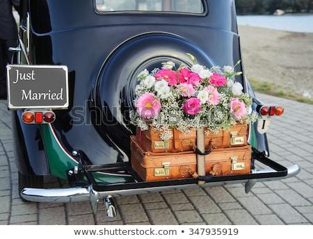 Сток-фото: сумку · букет · невеста · цветы · свадьба · трава