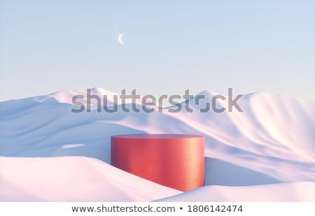 синий снега подиум падение аннотация Сток-фото © romvo