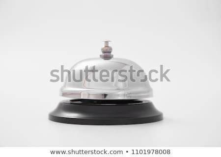 Femme hôtel Ouvrir la cloche réception bureau Photo stock © stevanovicigor