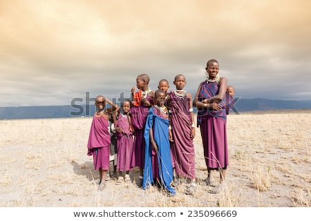 african woman and child in african landscape stock photo © adrenalina