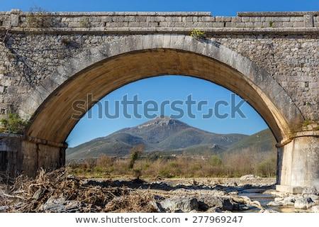 старые Vintage каменные моста Греция деревья Сток-фото © ankarb