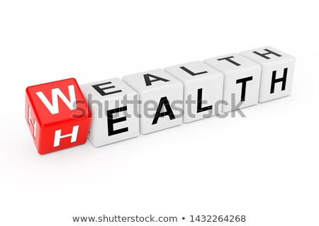 Health is Wealth. Medical Concept on Red Background. Stock photo © tashatuvango