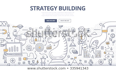 Stock photo: Business Success and Marketing Strategy concept with Doodle design style