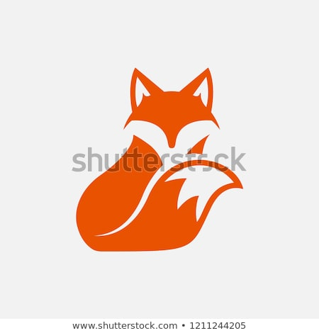 Fox icône visage signe rouge loup Photo stock © djdarkflower