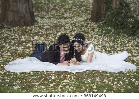 excited bride pre wedding,  Stock photo © godfer