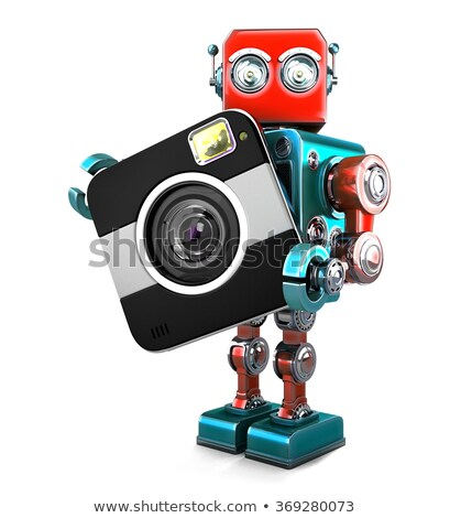 retro robot with camera isolated contains clipping path stock photo © kirill_m