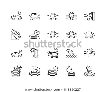 car auto accident icon Stock photo © kiddaikiddee