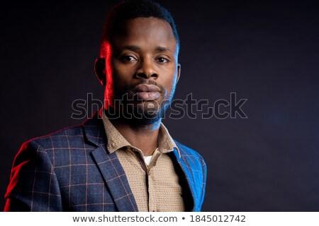 biznesmen · okulary · czarny · ludzi · biznesu · technologii · faktyczny - zdjęcia stock © feedough