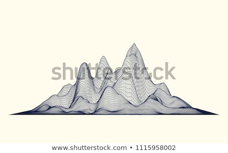 Abstract Cyberspace Grid Landscape Background Stock photo © robuart