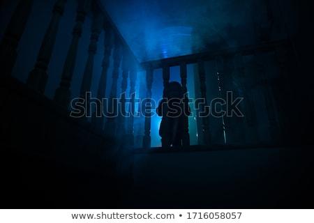 Elhagyatott pince lépcsősor ház törött mosógép Stock fotó © sirylok
