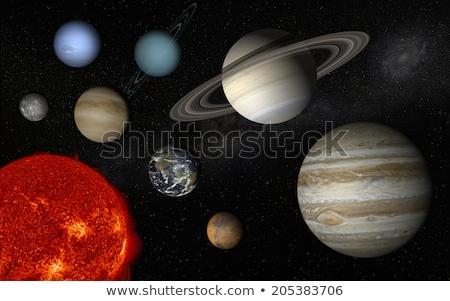 Benzin óriás képzeletbeli űr illusztráció bolygó Stock fotó © alexaldo