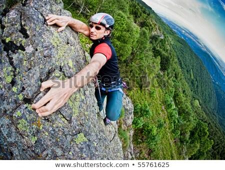 giovane · climbing · ripida · muro · montagna · giovani - foto d'archivio © zurijeta