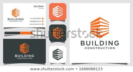 Três casas linha ícone Foto stock © RAStudio