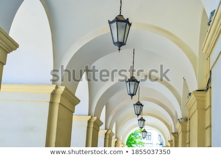 Passage with row of lamps Stock photo © vapi