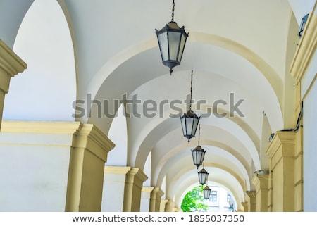 Pasaje lámparas gótico sala columnas Foto stock © vapi