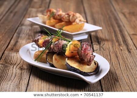 Chicken and aubergine skewer  Stock photo © Digifoodstock